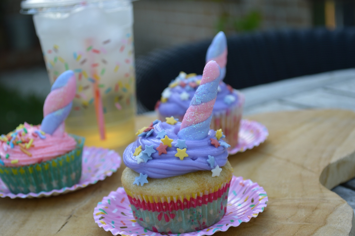 Vegan Unicorn Cupcakes