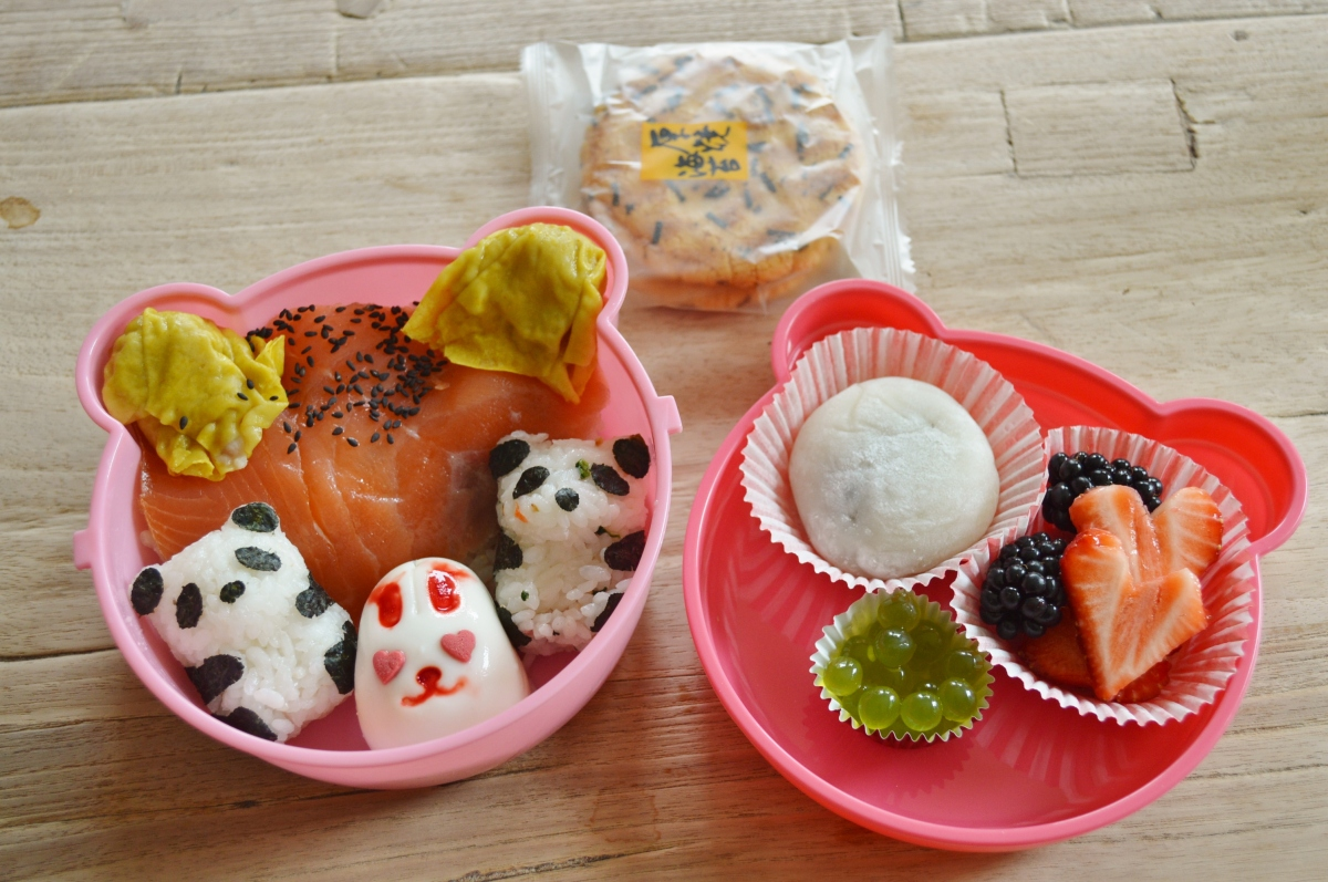 Bento Box: Panda's and a bunny